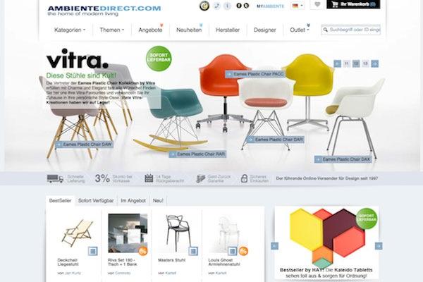Established ambiente direct versandhandel for Design versandhandel